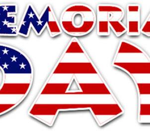 Image that says Memorial Day