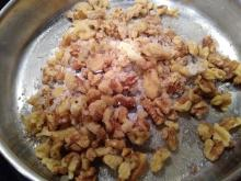 Candied Walnuts during cooking